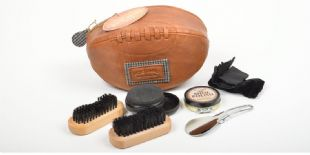 Portland Shoe Shine Kit in Rugby Ball